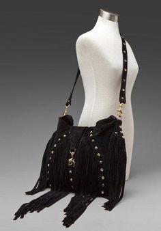 164f6f772eed 323 JJ Winters bag in Black Suede Handbags