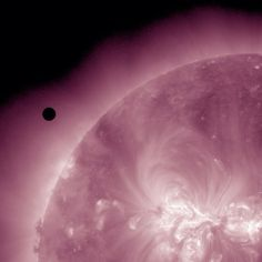 Venus approaching the Sun as seen through NASA's Solar Dynamics Observatory -VenusTransit