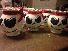 Nightmare Before Christmas Rose Bowls