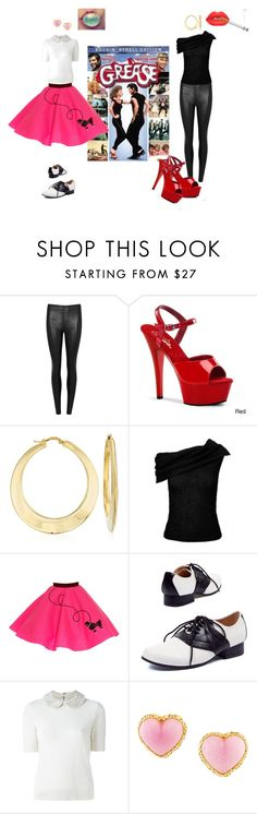 """Grease"" by teresarussell49 on Polyvore featuring Helmut Lang, Ross-Simons, Roland Mouret, Alice + Olivia, Chanel and Lime Crime"