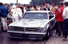The Gray Ghost in the paddock at Watkins Glen, 1971