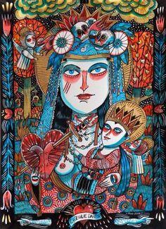 Kupala on Etsy John The Baptist, Outsider Art, Religion, Princess Zelda, Voodoo, Painting, Fictional Characters, Etsy, Night
