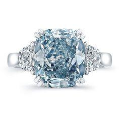 Jewelry Diamond : Blue 5ct Diamond Ring Peran & Scannell Jewelers Have it Custom Made! wish@peran-