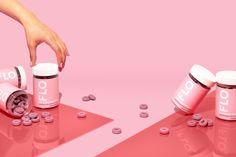 flo vitamins — Weekend Creative Candy Brands, Pill Bottles, Prop Styling, Beverage Packaging, Cosmetic Packaging, Packaging Design Inspiration, Bottle Labels, Pills, Vitamins