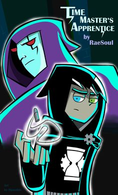 """""""Time Master's Apprentice"""" by djanubis. Illustration of a cool fanfic concept wherein Danny, after his death, becomes Timegear, apprentice to Clockwork.------- i just read the fic. Danny Phantom, Fantasma Danny, Gravity Falls, Randy Cunningham, Ghost Boy, Old Cartoons, Geek Out, Me Me Me Anime, Cartoon Art"""