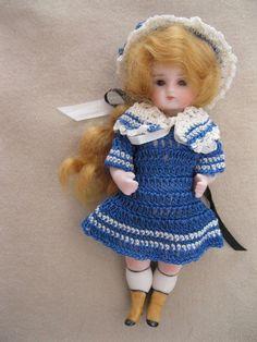 "OUTFIT FOR 4-5"" Mignonette Antique Vintage Bisque German French Doll.Blue | Dolls & Bears, Dolls, Antique (Pre-1930) | eBay!"