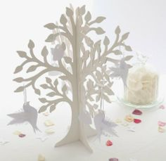 Decorative Standing Wooden Wedding Wishing Charm Tree (includes x6 butterfly or heart tags) The Flower Studio http://www.amazon.co.uk/dp/B0081QEDKI/ref=cm_sw_r_pi_dp_YsnJtb1KCNCNVXT4