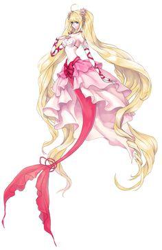 She is Queen 👑 Anime Art Girl, Manga Girl, Manga Anime, Anime Girls, Anime Mermaid, Mermaid Art, Anime Fantasy, Fantasy Art, Mermaid Melody