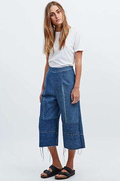 Urban Renewal Vintage Re-Made Denim Culottes