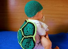 Sets – Turtle costume for baby - crochet – a unique product by DanyCream on…