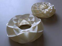 Torus(Tori) made of pairs of Villarceau Circles www.youtube.com/watch?v=ve1M-0gPLao And pattern look like this: http://www.flickr.com/photos/yoshinobu_miyamoto/5555289192/in/photostream