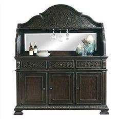 Monarch Traditional Black Wood Server w/Deck