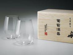 松徳硝子のうすはりグラス。プレゼントにも。