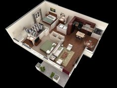 11-Simple-Two-Bedroom-Apartment-PLan