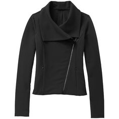 Athleta On The Move Moto Jacket - Black from Athleta on shop.CatalogSpree.com, your personal digital mall.