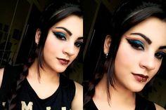 maquiagem Blue and Red makeup / Queeniemoor