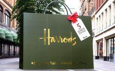 "HARRODS, Knightsbridge, London, UK, ""Harrods Sale-My Green Bag Instagram Promotion"", pinned by Ton van der Veer Instagram Promotion, Text On Photo, Work Inspiration, Green Bag, Chalkboard Quotes, Display, Harrods Knightsbridge, Day, Windows"
