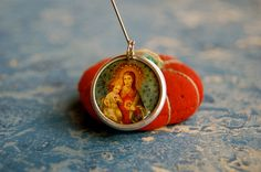 Sacred Heart of Mary and Jesus devotional medal - pinned by pin4etsy.com