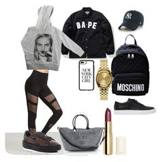 """""""Bape"""" by madisonkiss on Polyvore featuring Common Projects, Moschino, Nixon, A BATHING APE, H&M, '47 Brand, Victoria's Secret, Puma, ElevenParis and Casetify"""