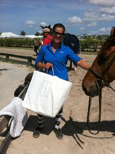 Jennifer Ritucci with her winning attitude scoring her the Draper Therapies Best Foot Forward Award during the 2012 Winter Equestrian Festival in Wellington, FL.