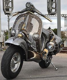 The Guaridan, an astounding custom Vespa featured on ScooterFile.com