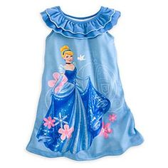 Disney Store - Cinderella - Nightshirt for Girls (Small - Blue. Cinderella will help your little one fall fast asleep in this lightweight nightshirt for girls, featuring raw edge details and fluttering ruffles. Cool Kids Clothes, Baby Kids Clothes, Cute Outfits For Kids, Toddler Girl Outfits, Toddler Dress, Girls Sleepwear, Girls Pajamas, Children's Boutique, Disney Merchandise