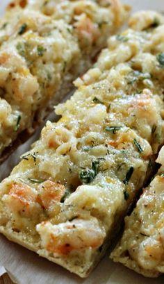 Cheesy Shrimp Ciabatta!