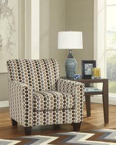 Geordie Contemporary Cafe Fabric Accent Chair
