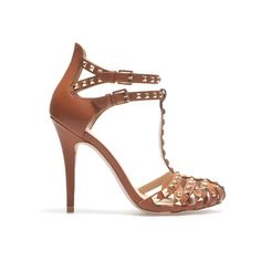 I'm seriousl going to buy these. STUDDED HIGH HEEL SANDAL - High-heels - Shoes - Woman - ZARA United States