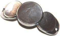 adorno pulsera 55x20mm, paso 3mm, zamak baño de plata. http://nellass.com/categories/CUENTAS-Y-ABALORIOS/ZAMAK/pulseras/