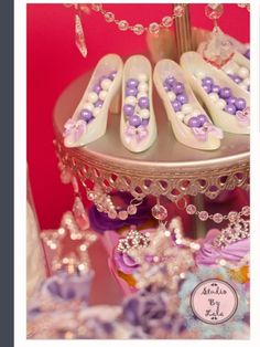 Lovely favors at a Sofia the First party!  See more party ideas at CatchMyParty.com!  #partyideas #princess