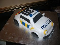 Police Birthday Cakes, Police Car Cakes, Image Birthday Cake, 4th Birthday, Cop Cake, Car Cakes For Boys, Police Party, Retirement Cakes, Childrens Party