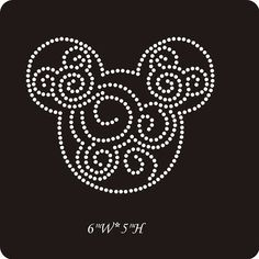 Mickey scroll rhinestone transfer - iron on hot fix appliqué Disney scroll on Etsy, $4.99