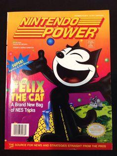 Nintendo Power 40 Felix the Cat Soul Blazer with Spider-Man Poster SNES NES