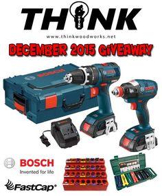 Think Woodworks December 2015 Giveaway