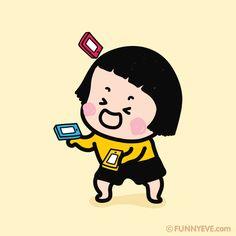 Mim The Mobile Girl tumbling the mobile phones :p