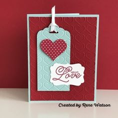Rene Watson - Valentine's Day card featuring Stampin' Up! 2017 Occasions Catalog products.