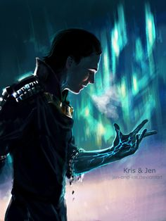 """In the movie, when there is a close up on Loki's face right when he looks at his hand you can tell that he just barely mouths the word """" No"""""""
