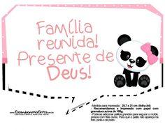 Plaquinha Panda Rosa 07 Panda Love, Fictional Characters, Daily Planners, Panda Themed Party, Panda Birthday Party, Ballerina Birthday Parties, Ballerina Birthday, Panda Decorations, Funny Taglines