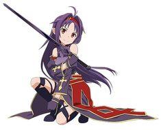 Yuki, Anime Art, Illustrations And Posters, Sword Art Online Yuuki, Online Art, Art, Female Anime, Anime Characters, Dark Fantasy Art