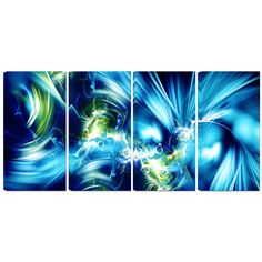 All of the Lights Abstract Canvas Wall Art Print