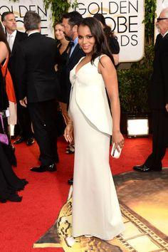 Kerry Washington on the 2014 Golden Globe Awards Red Carpet   Harper's Bazaar