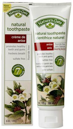 Nature's Gate Natural Creme Toothpaste, Creme de Anise 6 oz  #crueltyfree #noanimaltesting #natural