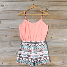 Crystal Wishes Romper in Peach, Sweet Lace Rompers from Spool No.72. | Spool No.72