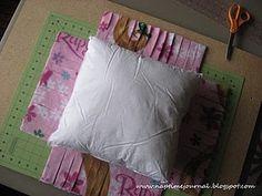 fleece tied pillow