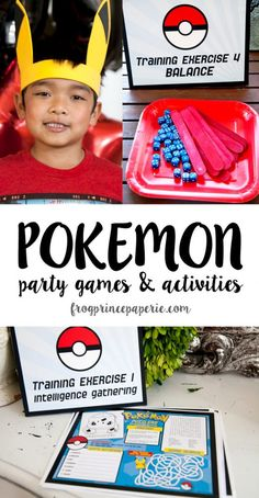 Easy Pokemon Party Games and Activities - Frog Prince Paperie