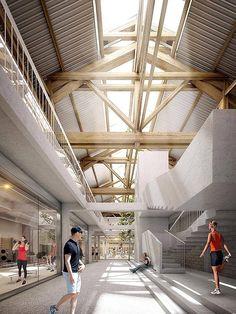 THINKTANK ARCHITECTURE ESPACE SPORTIF DE LA RATP BIZOT