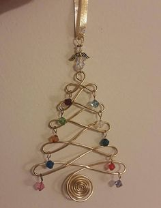 TUTORIAL - Birthstone Christmas Holiday Tree Ornament Wire Jig Tutorial - This tutorial includes color photos and clear step-by-step instructions for making your own - Wire Ornaments, Beaded Christmas Ornaments, Christmas Jewelry, How To Make Ornaments, Ornament Tree, Snowman Ornaments, Holiday Tree, Christmas Holidays, Christmas Crafts