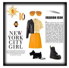 """Orange Is The New Black"" by walle-walle ❤ liked on Polyvore featuring Radley, Dr. Martens, Forever 21, Alexis Bittar, Topshop, PS Paul Smith, Yves Saint Laurent, Simplify, orangeoutfit and popsoforange"