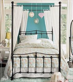 Another piece of my dream home, a sweet canopy bed.